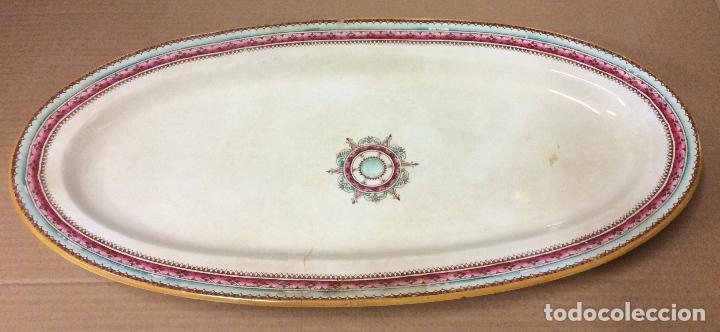 ANTIGUA BANDEJA OVALADA DE GRAN TAMAÑO 50X20 CM (Antigüedades - Porcelana y Cerámica - Francesa - Limoges)
