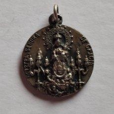 Antigüedades: MEDALLA RELIGIOSA ANTIGUA NUESTRA SEÑORA DE GRACIA PATRONA DE PUERTOLLANO SIGLO XIX 20 X 20 MM. Lote 191375745