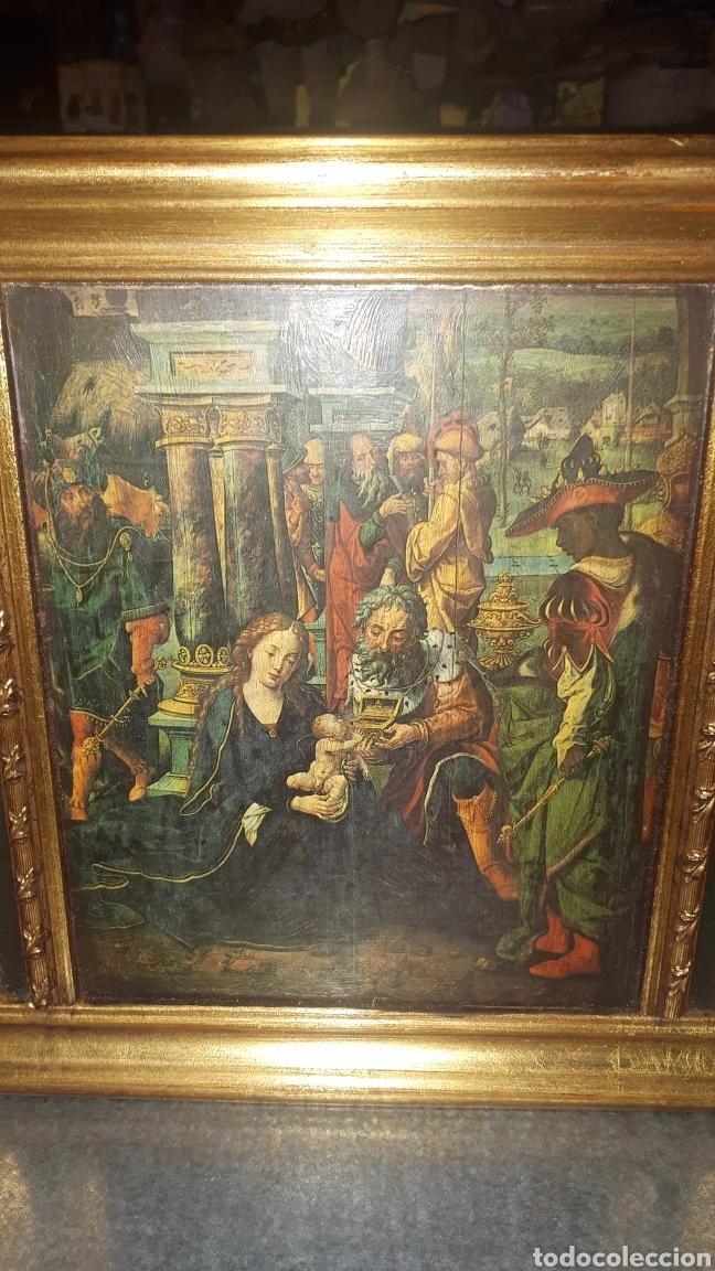 Antigüedades: Bonito retablo tríptico religioso - Foto 5 - 191380333
