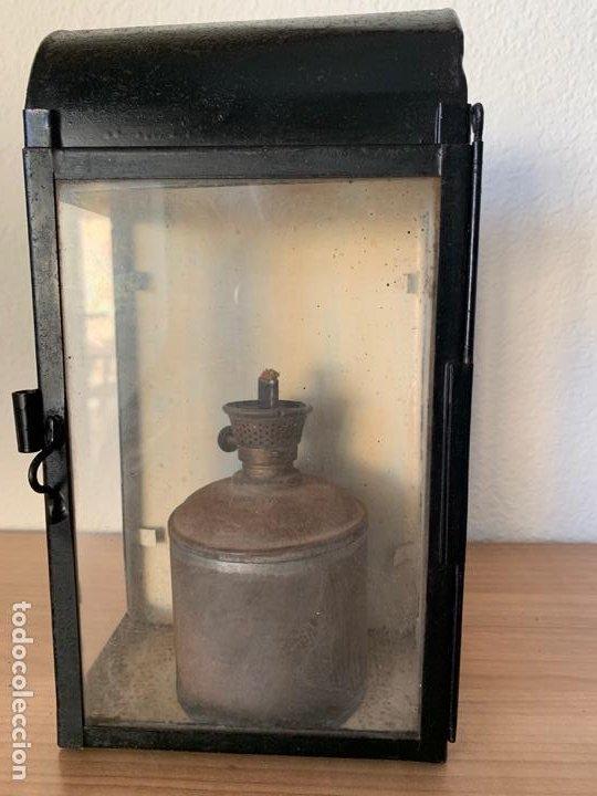 FAROL DE MAQUINA DE TREN MUY ANTIGUO RENFE (Antigüedades - Iluminación - Faroles Antiguos)