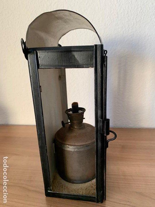 Antigüedades: FAROL DE MAQUINA DE TREN MUY ANTIGUO RENFE - Foto 2 - 191384226