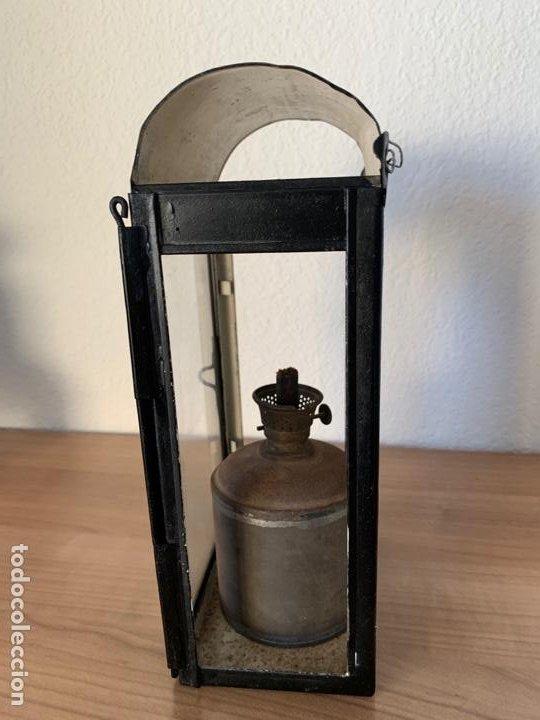 Antigüedades: FAROL DE MAQUINA DE TREN MUY ANTIGUO RENFE - Foto 4 - 191384226