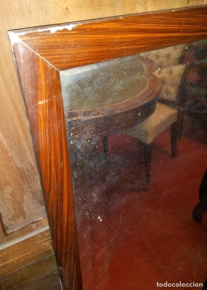Antigüedades: ESPEJO ANTIGUO ESTUCO CON IMITACIÓN A MADERA - Foto 3 - 238820105