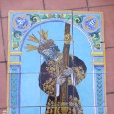Antigüedades: RETABLO CERAMICO AZULEJOS (GRAN PODER) ENRIQUE MARMOL. Lote 191402348