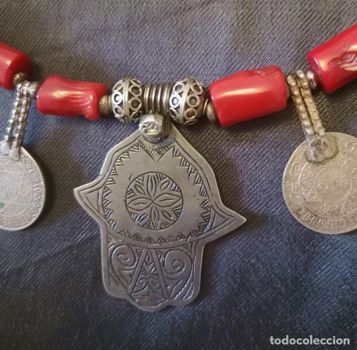 Antigüedades: Collar Mano de Fátima - Foto 2 - 191403620