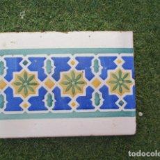 Antigüedades: AZULEJO VALENCIANO SIGLO XIX. Lote 191403951