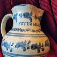 Antigüedades: JARRA DE TALAVERA. AÑO 1893. SOY DE MARÍA ORTEGA.. Lote 191404476