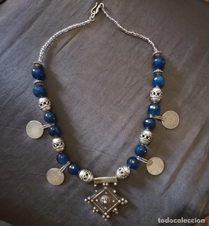 Antigüedades: collar cruz del desierto - Foto 2 - 191406835