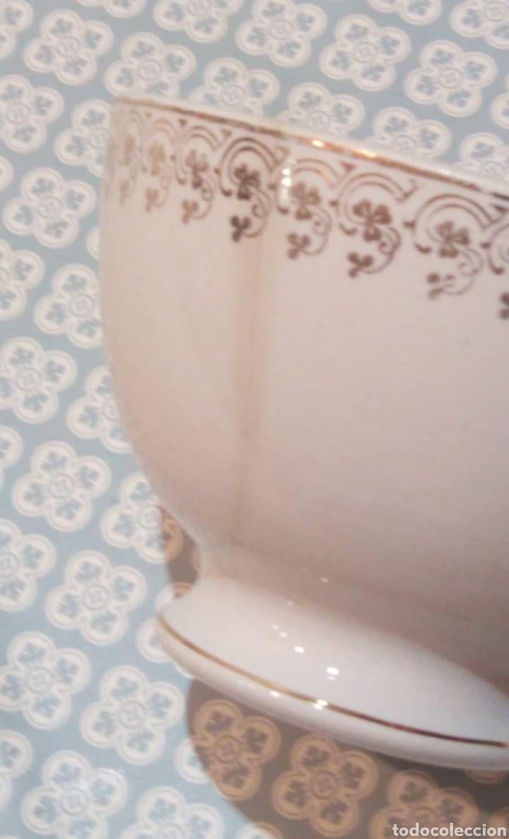 Antigüedades: Bonito tazón China Porcelana Opaca Santander. Principios del siglo XX - Foto 4 - 191407225