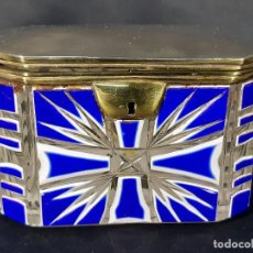 Antigüedades: CAJA CRISTAL. BOHEMIA. SIGLO XIX.. Lote 191408723
