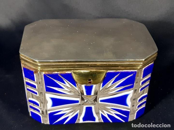 Antigüedades: Caja cristal. Bohemia. Siglo XIX. - Foto 2 - 191408723