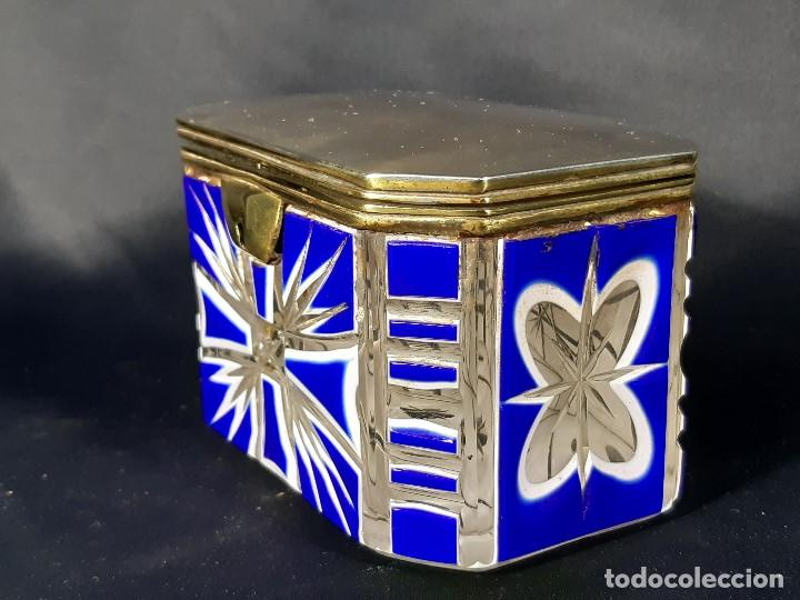 Antigüedades: Caja cristal. Bohemia. Siglo XIX. - Foto 4 - 191408723