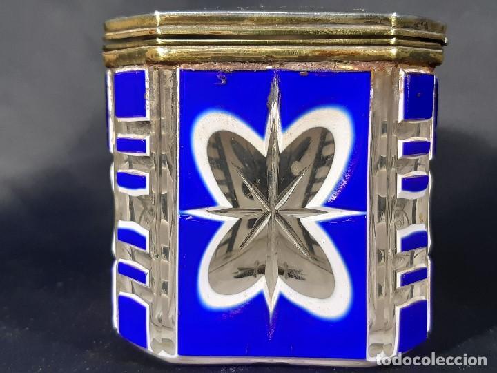 Antigüedades: Caja cristal. Bohemia. Siglo XIX. - Foto 5 - 191408723