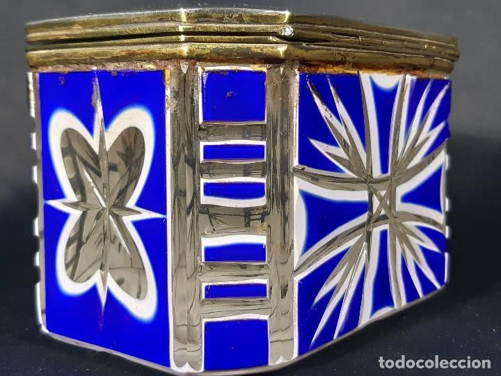 Antigüedades: Caja cristal. Bohemia. Siglo XIX. - Foto 6 - 191408723