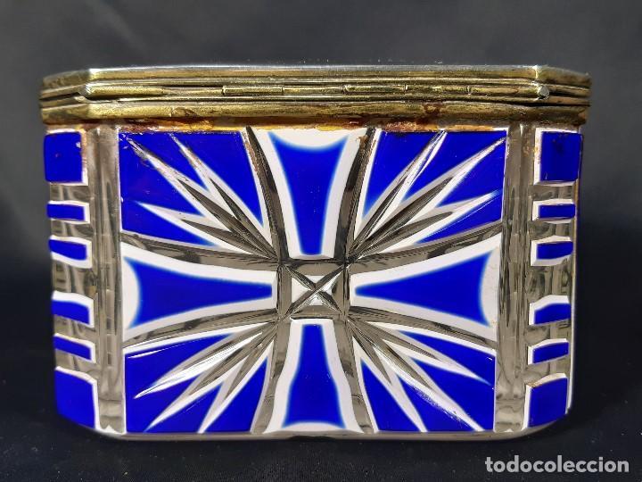 Antigüedades: Caja cristal. Bohemia. Siglo XIX. - Foto 7 - 191408723