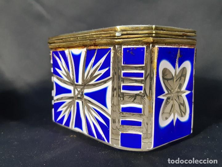 Antigüedades: Caja cristal. Bohemia. Siglo XIX. - Foto 8 - 191408723