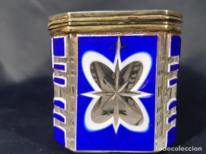 Antigüedades: Caja cristal. Bohemia. Siglo XIX. - Foto 9 - 191408723