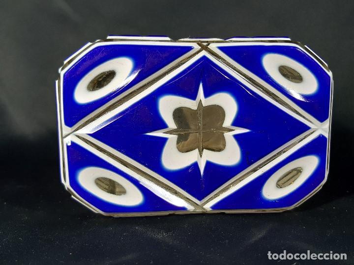 Antigüedades: Caja cristal. Bohemia. Siglo XIX. - Foto 10 - 191408723