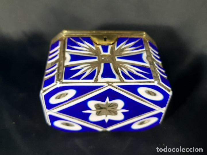 Antigüedades: Caja cristal. Bohemia. Siglo XIX. - Foto 11 - 191408723