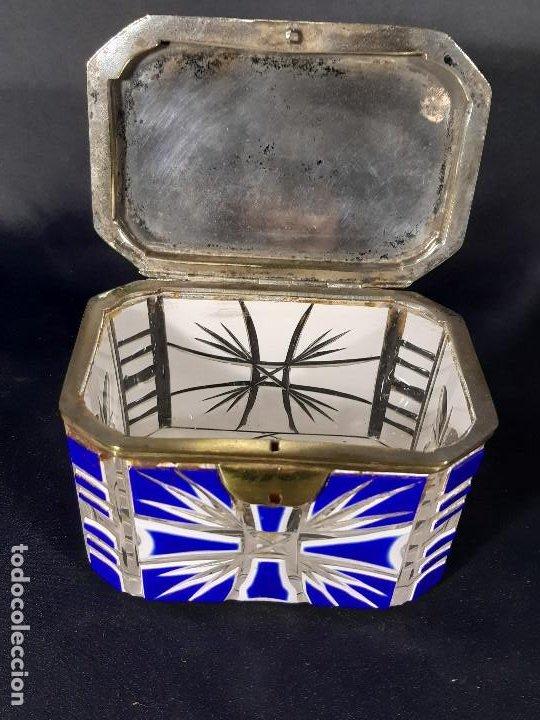 Antigüedades: Caja cristal. Bohemia. Siglo XIX. - Foto 12 - 191408723