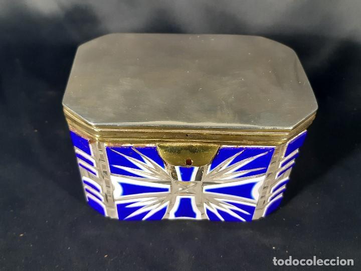 Antigüedades: Caja cristal. Bohemia. Siglo XIX. - Foto 16 - 191408723