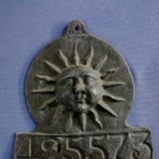 Antigüedades: ANTIGUA FIGURA DE PLOMO CON SOL Y NÚMERO 425573. Lote 191413320