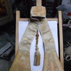 Antigüedades: 41 - MANIPULO SACERDOTAL CREMA Y ORO . Lote 191413491