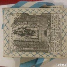 Oggetti Antichi: ANTIGUO ESCAPULARIO DE NUESTRA SEÑORA DE LA ALMUDENA PATRONA DE MADRID. 10 X 8 CM . Lote 191413957