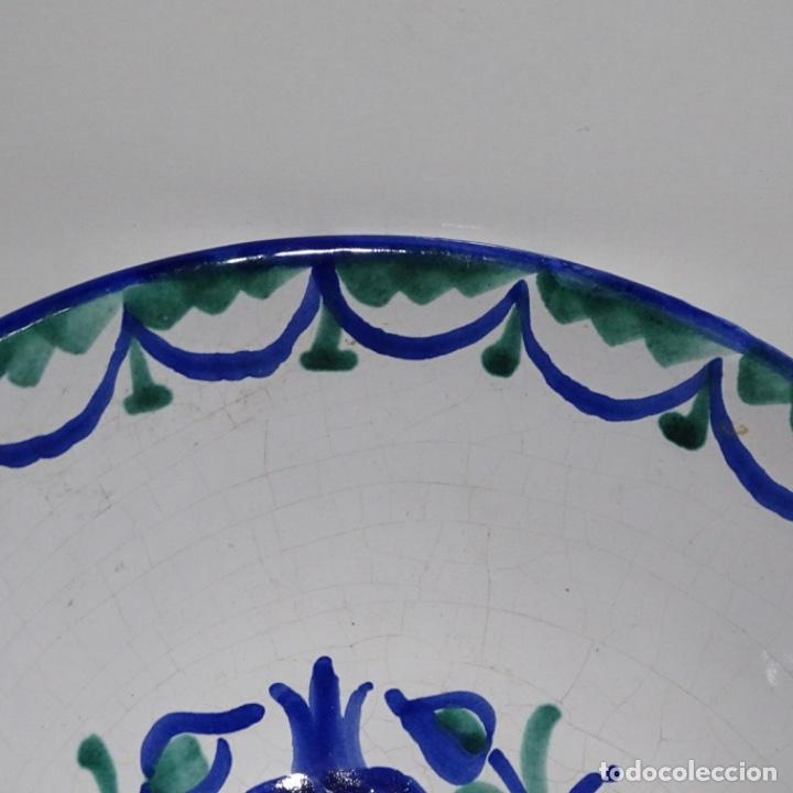 Antigüedades: Antiguo Plato lebrillo de fajalauza.29 cm de diámetro. - Foto 4 - 191418013