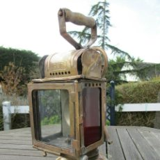 Antigüedades: MAGNIFICO FAROL TREN TREN DE MUSEO FERROCARRIL - SNCF LINTERNA ACETILENO ANTIQUISIMA 350,00 €. Lote 191427983