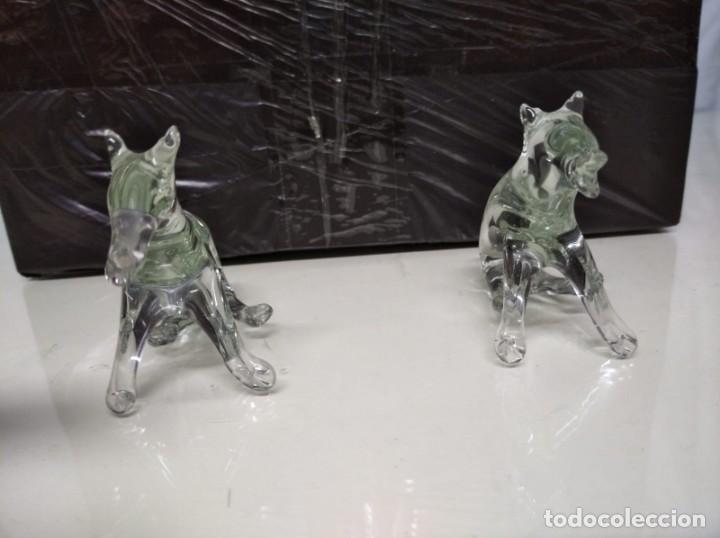 Antigüedades: 2 figuras de cristal de roca. 12cm x 5cm. - Foto 3 - 191428151