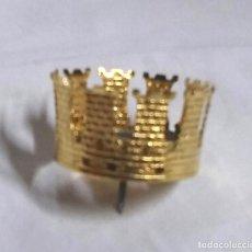 Antigüedades: CORONA PARA IMAGEN VIRGEN O SANTO CORONADO BRONCE. MED. 3 CM DIAMETRO. Lote 270400833