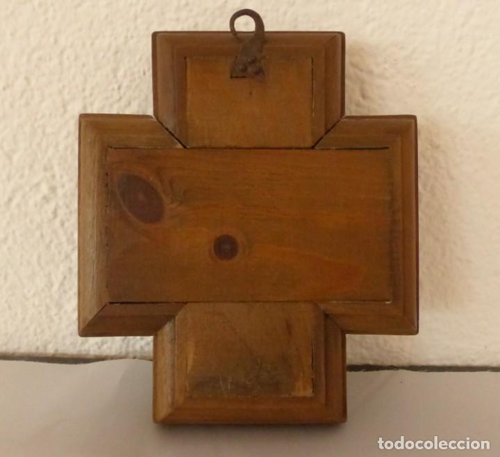 Antigüedades: MODEST MORATÓ - CRUZ DE BRONCE ESMALTADA - ESCENAS BIBLICAS. - Foto 3 - 191449330