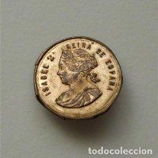 Antigüedades: ANTIGUO BROCHE DE METAL DE ISABEL II (SIGLO XIX). Lote 191449663
