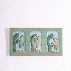Antigüedades: TALLA DECORATIVA CAMPESTRE. Lote 191454958