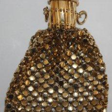 Antigüedades: MONEDERO CON BOCA EXTENSIBLE EN METAL DORADO. Lote 191460953