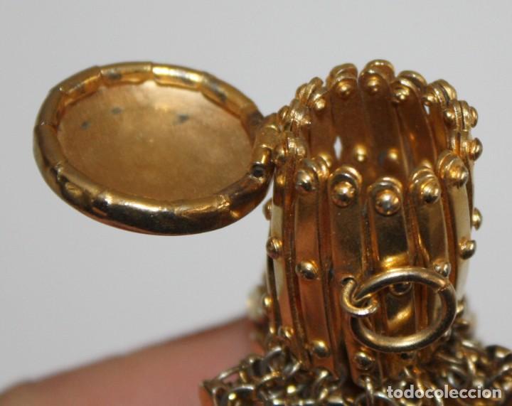 Antigüedades: MONEDERO CON BOCA EXTENSIBLE EN METAL DORADO - Foto 5 - 191460953