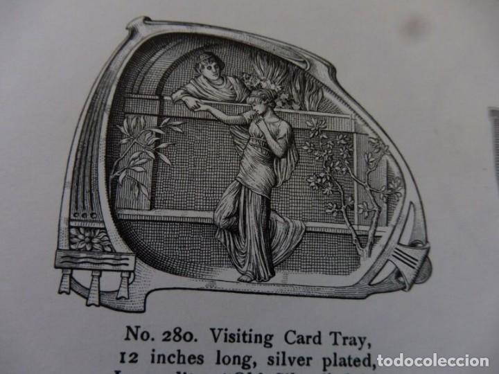 Antigüedades: Bandeja WMF. Pieza nº 280 del catálogo de 1906 Art Nouveau con marcajes - Foto 5 - 154177102