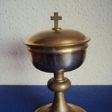 Antigüedades: (ANT-200167)CALIZ METAL PLATEADO. Lote 191461975