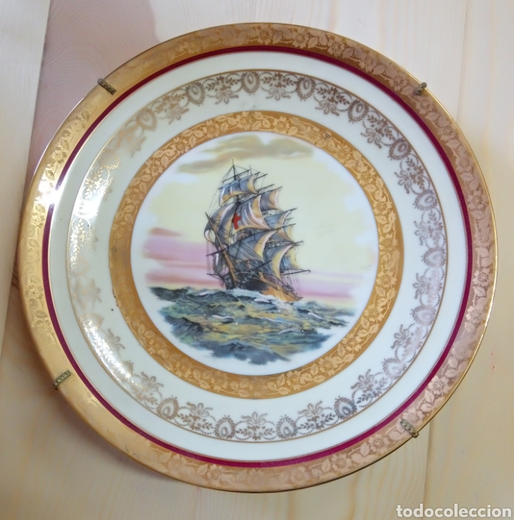 Antigüedades: Pareja de platos Porcelaine de Limoges France - Foto 2 - 191462331