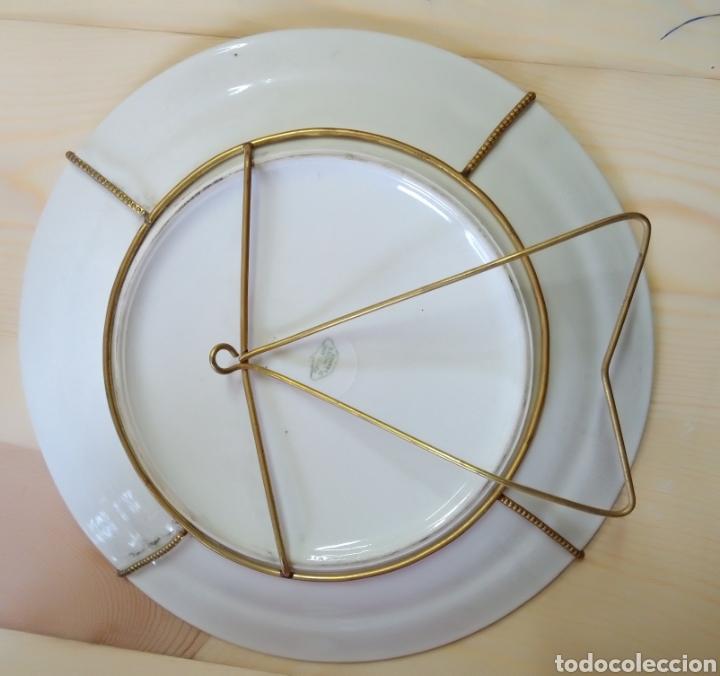 Antigüedades: Pareja de platos Porcelaine de Limoges France - Foto 3 - 191462331