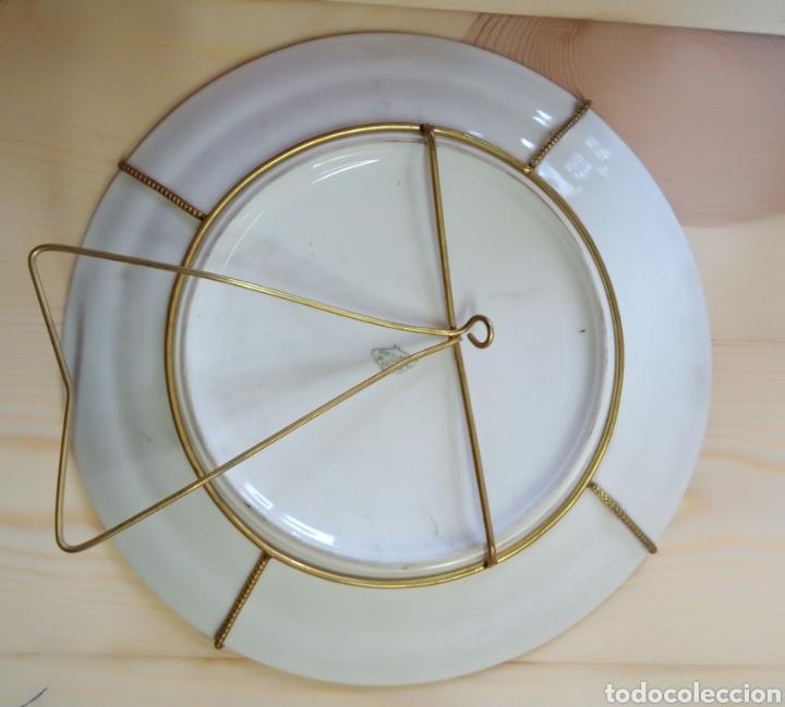 Antigüedades: Pareja de platos Porcelaine de Limoges France - Foto 5 - 191462331