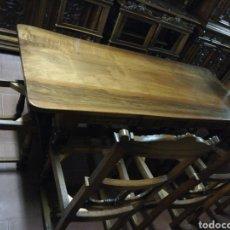 Antigüedades: COMEDOR RESTAURADO NOGAL. Lote 191462782