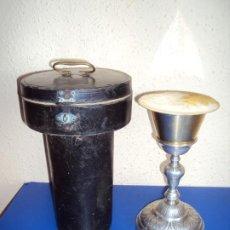 Antigüedades: (ANT-200168)ANTIGUO CALIZ CON ESTUCHE Y PATENA. Lote 191462805
