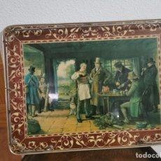 Antigüedades: ANTIGUA BANDEJA CON PATAS . Lote 191463998