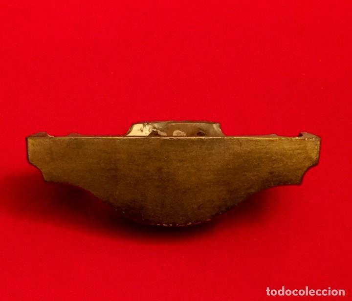 Antigüedades: MENSULA - PEANA - REPISA PASTA DE MADERA Y PAN DE ORO. - Foto 5 - 191470215