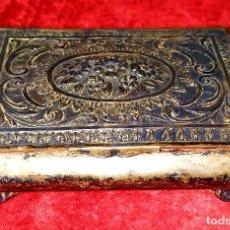 Antigüedades: CAJA-JOYERO. PLATA PUNZONADA. APROX. 900/1000. ESPAÑA. PRINCIPIOS SIGLO XX. Lote 191485820