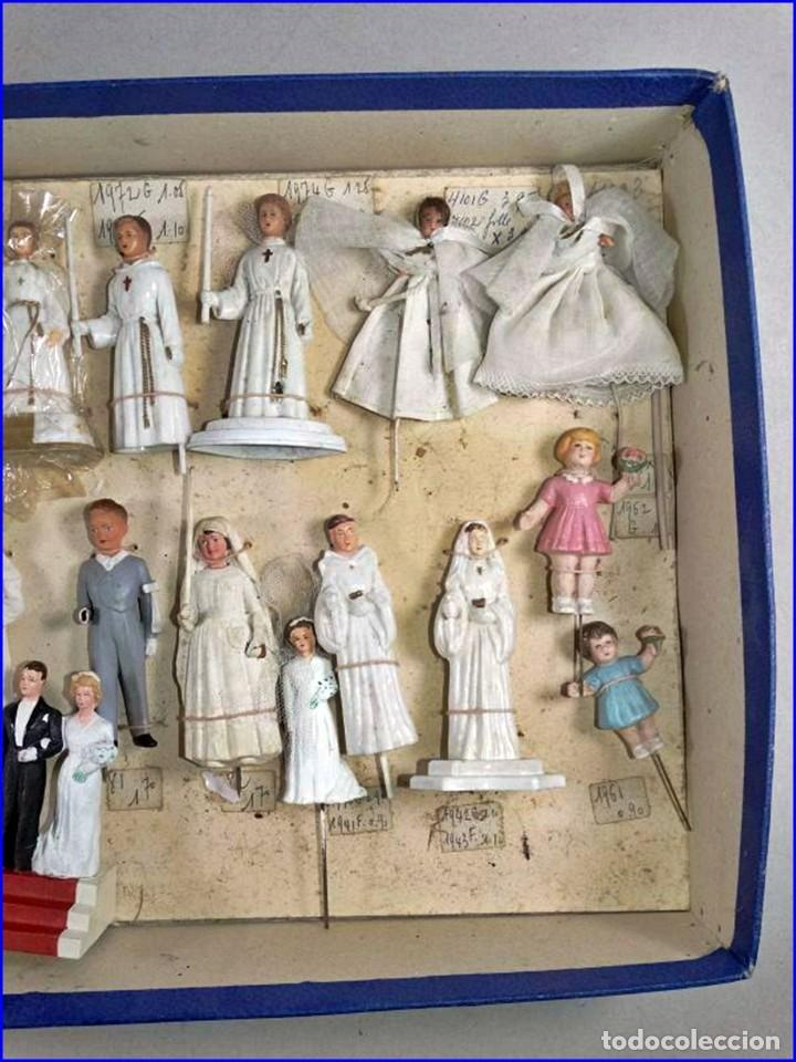 Antigüedades: AÑOS 20: COLECCIÓN DE FIGURAS (COMUNIÓN. BODA...) . De textil y plástico, en parte celuloide - Foto 4 - 191525897