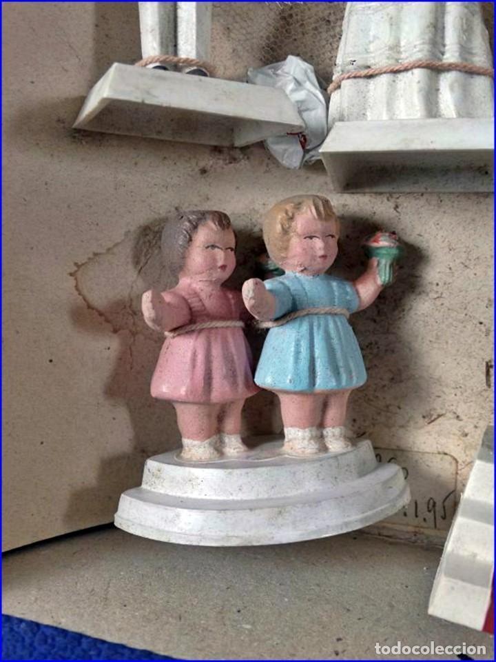Antigüedades: AÑOS 20: COLECCIÓN DE FIGURAS (COMUNIÓN. BODA...) . De textil y plástico, en parte celuloide - Foto 5 - 191525897