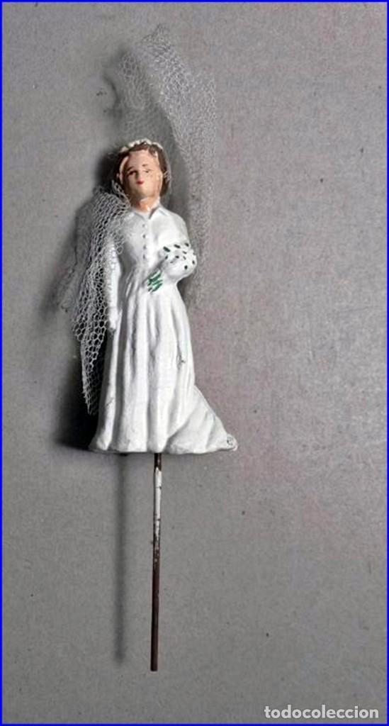 Antigüedades: AÑOS 20: COLECCIÓN DE FIGURAS (COMUNIÓN. BODA...) . De textil y plástico, en parte celuloide - Foto 6 - 191525897